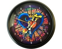 Kingdom Hearts - 3D Wall Clock - Video Game Decor - Video Game Wall Art - Kingdom Hearts Wall Art - Wall Art
