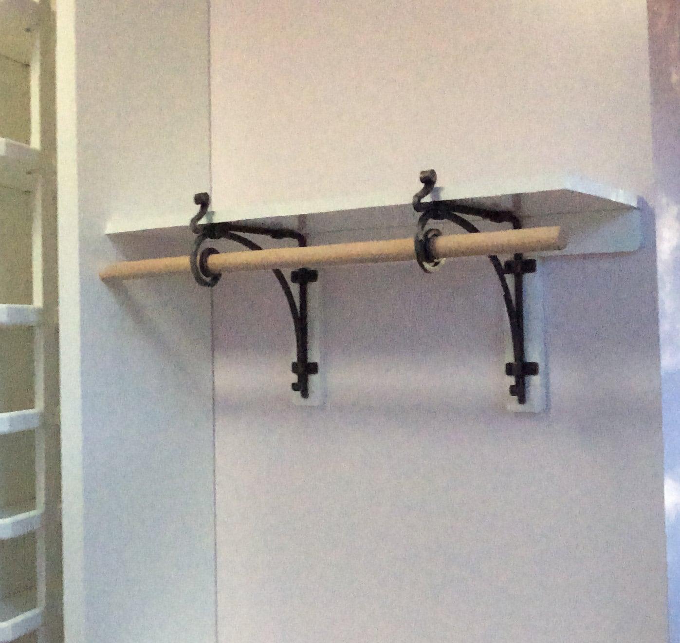 Metal Iron Hand Forged Shelf Bracket Corbel With Rod Steel