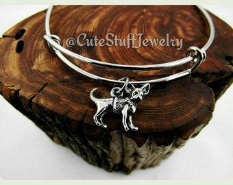 Chihuahua Bracelet, Chihuahua Bangle, Handmade Chihuahua Jewelry, Dog Bracelet, Dog Bangle, Chihuahua Puppy Bracelet, Puppies Bangle, Dogs