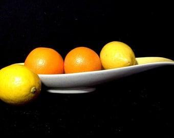 Sleek MidCentury Bowl/Spoon Rest/Gravy Boat