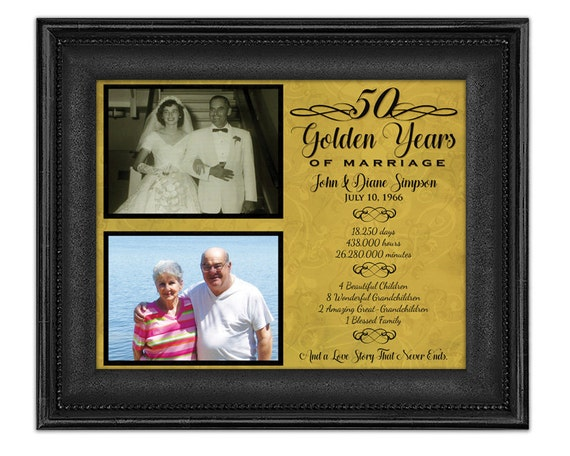 Fiftieth Wedding Anniversary Gifts: 50th Anniversary Gifts Golden Anniversary Gift Wedding