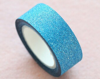 10M Lovely Blue Glitter Deco Tape  - Blue Glitter Washi Tape 10M - Sparkly Deco Tape