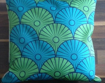 1970s Style Printed Cushion Cover