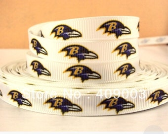 baltimore ravens 3/8 grosgrain ribbon 9mm sport football