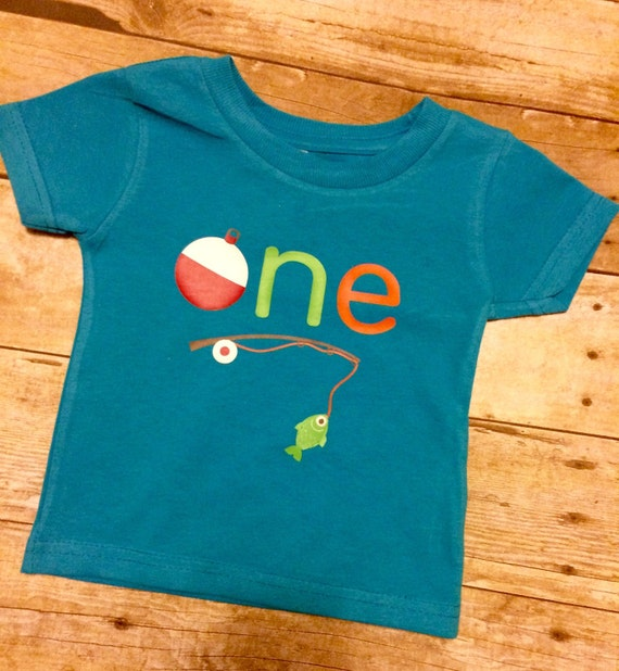 Fishing theme first birthday shirt by designsbyjessicak on for Fishing first birthday