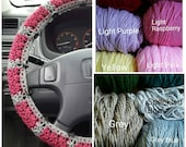 CUSTOM** Crochet Steering Wheel Cover with Buttons