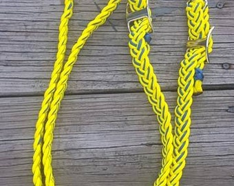 Yellow and Blue (FFA) Reins