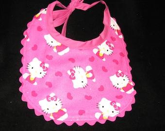 Baby Girl Reversible Hello Kitty Baby Bib