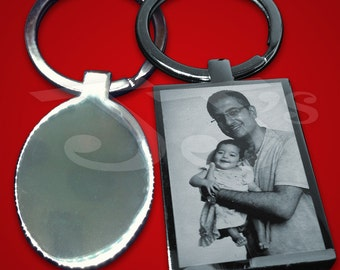 Photo engraved Keyrings