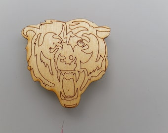 Laser Cut Bear Head Magnet