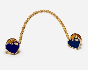 Blue Hearts, 3-Way Collar pins