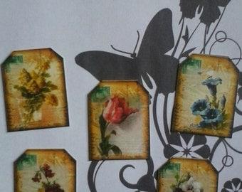 Victorian garden gift tags