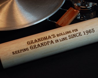 Personalized Rolling Pin, Engraved Rolling Pin, Personalized Kitchen Decor, baking gift, mothers day gift, grandma gift, christmas Gift
