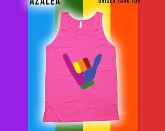 Hang Ten Tank top - Gay Pride Month Ally t-Shirt, Gay Pride Clothing, pride parade, Mens Womens Shirts, Lgbt shirts,Fitness tank top -CT-490