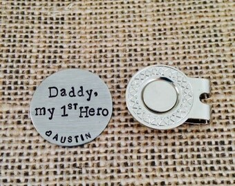 First Hero Golf Ball Marker and Hat Clip Personalized Magnetic Golf Ball Marker