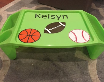 Children's personalized plastic lap tray