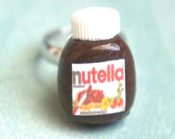 nutella jar ring-miniature food jewelry