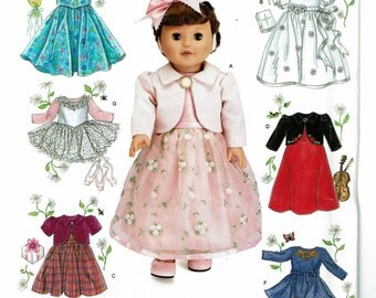 "Simplicity Pattern 0638 Elaine Heigl Designs Doll Clothes for 18"" Dolls UNCUT"