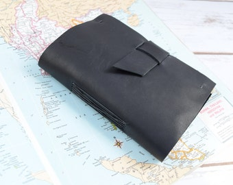 Personalized Leather Journal - travel journal -  black journal - leather bound journal - diary - custom sketchbook - monogram journals