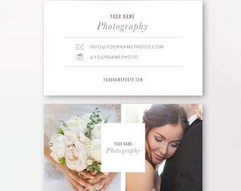 INSTANT DOWNLOAD - Photographer Business Cards Template - Wedding Photographers - Digital Design - Photoshop Templates - PSD Design