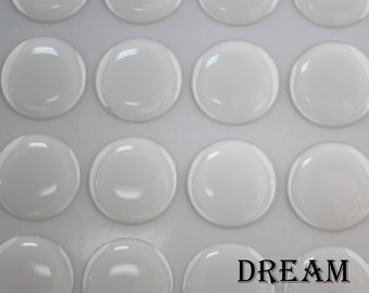 1inch Clear Round Epoxy Stickers, domed epoxy stickers 25.4mm - Bottle caps Epoxy Stickers - 1inch Resin Epoxy Dots