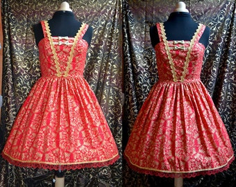 ON SALE - Red and Gold Lolita Jsk dress