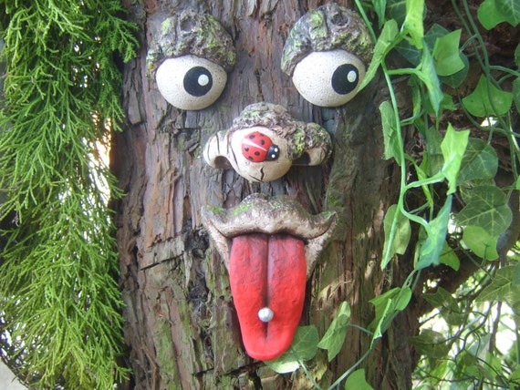 Tree Face Sculptures Garden Decorations Tree Ornaments Funny