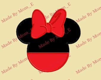Mrs Mouse Head w Bottoms Applique