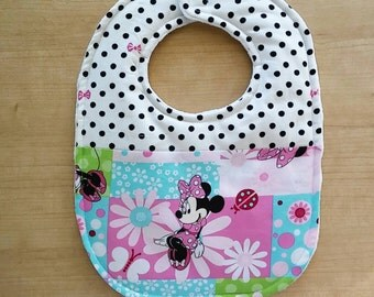Minnie Mouse Inspired Baby Bib