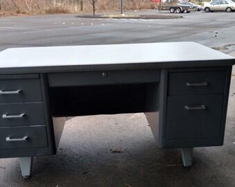 Steel 'Madmen Style' Desk
