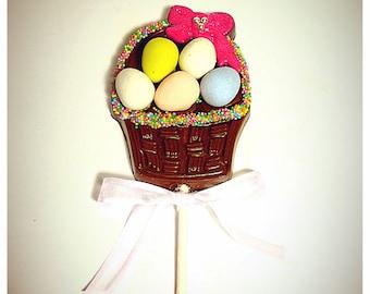 Easter Basket Belgian Chocolate Lollipops