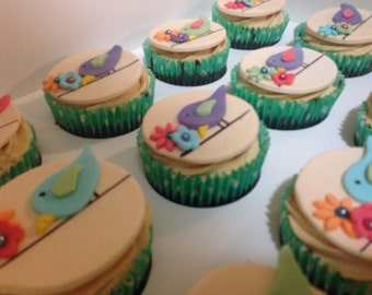Bird on a Wire Fondant Toppers