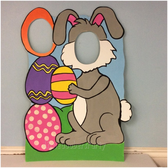 diy christmas photo prop ideas - Easter Bunny Booth Prop WOODEN Personalized Easter