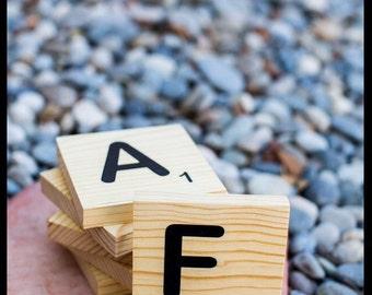 """Large Scrabble Tiles- 4.5"""""""