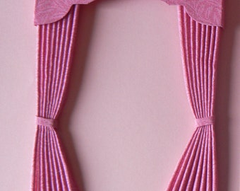 1:12th Scale Dolls House Curtains and Pelmet