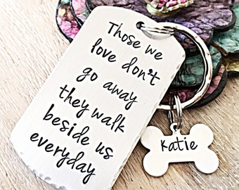 Pet Loss Keychain, Dog Loss Gift, Pet Memorial Keychain, Dog Memorial Gift, Dog Memorial Jewelry, Pet Sympathy Gift, Personalized Memorial