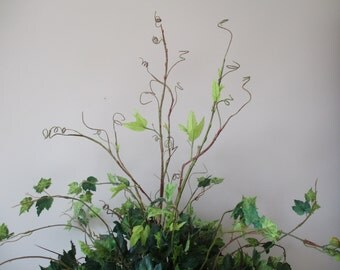 "Tall Twig Branch 45"" Branch Silk Flowers - Twig Branches Silk Foliage Cottage Greenery 45"" New Growth Branch #263A"