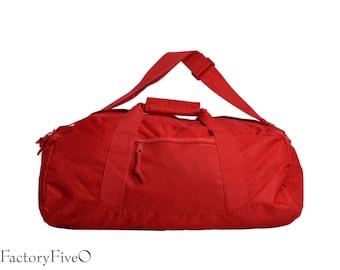 Red Weekender Duffel - personalized - monogrammed - Bridesmaid gift - groomsmen gift - gym bag