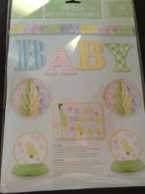 Baby shower decoration kit baby shower ideas hanging for Baby shower decoration packs
