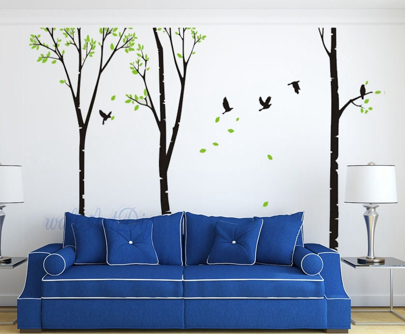 arbre mural stickers arbre mur pochoirs g ant arbre mur murale. Black Bedroom Furniture Sets. Home Design Ideas