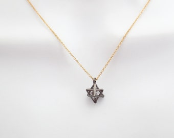 Cubic, Black and gold, Gun star, Gold, Silver, Rose gold, Chain, Necklace, Modern, Dainty, Star, Lovers, Best friends, Sister, Gift