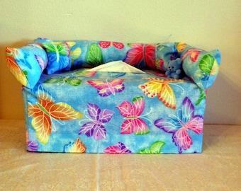 "Tissue Box Cover ""butterflies"" #130"