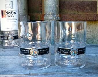 Ketel One Vodka Bar Glasses From Recycled Liquor Bottles