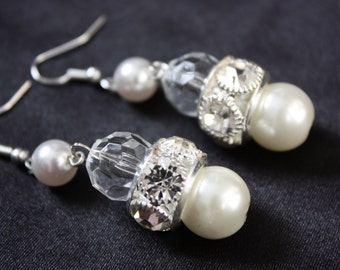 White Swan earring