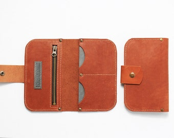 Ginger brown leather wallet