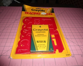 Vintage Crayola, Vintage Color Crayons, Stencils, NOS, NWT, Gift for Kid, Arts and Crafts, Crafting for Kids, Drawing, Vintage Crafts, Color