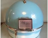 RESERVED Vintage Turquoise Lady Schick Portable Professional Consolette Hair Dryer, Retro Hair Salon, Consolette  Beauty Home Salon Dryer.