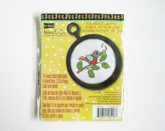 Bluebird Counted Cross Stitch Kit Mary & Company Spring Bird Mary Engelbreit Enterprise Unopened Craft Supply Kit Destash Cross Stitch Bird