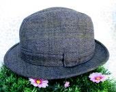 Failsworth Trilby  Mens Trilby Hat  Trilby Hat  Vintage Trilby  Retro Trilby  Made In England  Wool Trilby  Grey Trilby  Gray Trilby