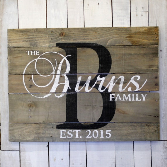 Wedding Gift Name Sign : Custom Wedding Gift, Custom Name Sign, Pallet Last Name Wood Sign ...